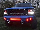 color del anillo 180W RGB del halo de la barra ligera de 32inch LED para el Wrangler del jeep