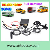 3G/4G 1080P Car Mobile Dvrs met GPS, 4 Channel HD Videocamera voor Car Bus Truck Taxi Boat Security Surveillance