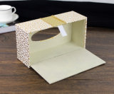 Caixa retangular do tecido com couro do Lu para o uso do hotel (PJ-002)