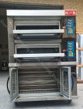 ピザのための熱い販売の大きいベーキング容量の電気デッキのオーブン