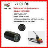 mini cámara del CCTV de los 20m Wateproof, cámara de los pescados con 8 Irs (opinión de la noche del IR los 940nm/5m, opinión de 90 grados, 12g, cubierta de cristal)
