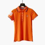 Fabricante Personalizar 95% Algodão 5% Spandex Mulheres Polo T-Shirt
