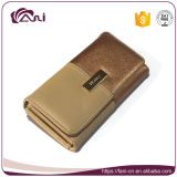 Fani女性の小さいPUの財布の安い価格のための金カラークラッチの財布