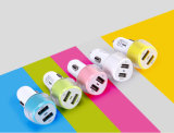 Заряжатель автомобиля USB модного взгляда двойной с подгонянными цветами для сотового телефона