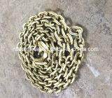 Золотистая гальванизированная цепь соединения G70 с крюком