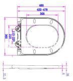 StandardNoverty einfacher Abschluss-Arbeitskarte-Toiletten-Sitz