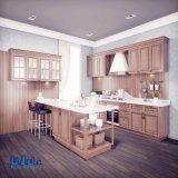Cozinha luxuosa da madeira contínua do vidoeiro de Italy com mini barra