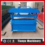 中国の機械装置910を形作るアルミニウムプロフィールの金属の屋根ふきシートのパネルロール