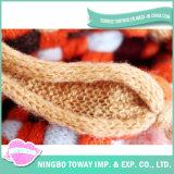 Testes padrões de confeção de malhas do chapéu do lenço da camisola do laço do vintage do fio do Fishnet
