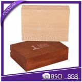 Embalaje de caja de madera con ventana