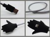 Nuevo cable de datos de carga flexible vendedor caliente del USB del metal del soporte del cable duro del USB para el androide del borde S4 S3 de la galaxia S7 S6 de Samusung