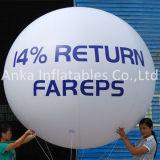 Blanc bon marché annonçant le ballon à air gonflable
