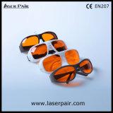 Tipo simple de 266nm, 355nm, 515nm, anteojos de seguridad de laser de la protección Eyewear/del laser 532nm para el excímero 200-540nm/los lasers verdes ultravioletas con Frame52