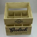 Caisse en bois de bière de logo de bouteille faite sur commande du solide 9 avec le traitement