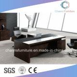 Grosser Größen-dunkle Farben-Melamin-Möbel-Metallrahmen-Büro-Tisch
