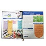 Impression faite sur commande professionnelle de catalogue de produit de papier excentré