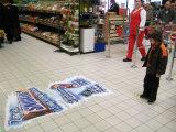 Kennsatz-Drucken-Fußboden-Abziehbilder, Fußboden-Grafiken, Fußboden-Aufkleber, Promo-Abziehbilder