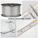 Luz de tira do RGB 30LED/M da Mult-Cor 5050 da alta tensão da manufatura com RoHS