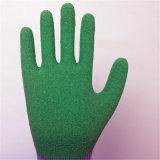 перчатка 10g T/C с покрытием латекса морщинки пены