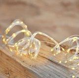 藤のマルチ繊維の銅線の暖かく白く多彩なクリスマスツリーライトストリング