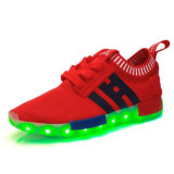 Zapato material de la PU de la PU material popular LED del hombre/de la mujer
