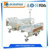 Base manual manual aluída de 2 bases de hospital para o hospital com a prateleira sob a base (GT-BM5230)