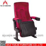 Einfacher Entwurfs-roter Plastikfilm-Stuhl mit Becherhalter Yj1804r