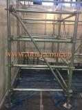 Aufbau Buliding Baugerüst Walkboard Rollenehemaliger Maschinen-Hersteller Dubai