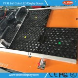 P3.91 ultradünne SuperVideodarstellung des licht-LED für Innenmiete