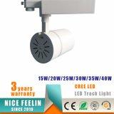 크리 사람 LED와 TUV 열거된 운전사를 가진 2/3/4wire 15W/20W/30W/40W 옥수수 속 LED 반점 궤도 빛