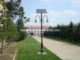 El doble arma la luz solar del jardín de 12W los 4m poste IP65