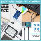 Cabo de dados trançado do USB do micro do nylon colorido novo para telefones de pilha de Samsung etc., Android