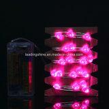 Coração Bateria com fio de cobre ligado Glimmer String Light Interior USB 33 FT / 10 M Pink