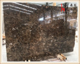 Bancadas de mármore escuras elevadas da cozinha das lajes de Quatily Emperador
