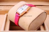 De Horloges van de Band van het Leer van het Kristal van de douane voor Dames