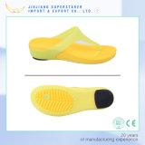 Kwaliteit Design Jelly Flip Flops, EVA Flip Flops met pvc Upper en Rubber Heel