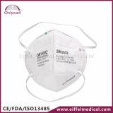 máscara protetora não tecida médica descartável do embaçamento 9001V de 3m