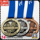 Barato Racing Custom corriente del maratón deporte de medalla metal
