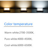 luzes internas quadradas de Downlight da iluminação de bulbo da lâmpada do teto da luz de painel AC85-265V do diodo emissor de luz 12W CRI>85 2700-6500k