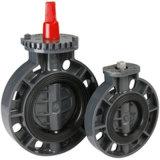 Borboleta PVC Válvula DIN ANSI JIS padrão