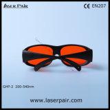 La mejor calidad del excímero, ultravioleta, gafas de seguridad verdes de laser de los anteojos protectores del laser (GHP-2 200-540nm) con el marco negro 33