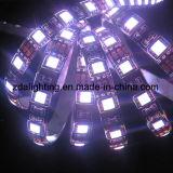 striscia flessibile bianca dell'indicatore luminoso di giorno SMD5050 4000k LED di 12V-24V 60LEDs/M