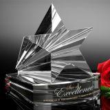 Concesión directa del trofeo de la pirámide del vidrio cristalino de la venta de la fábrica