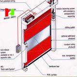 Porta deslizante automática da porta de alta velocidade flexível