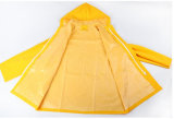 PVC/Polyester do adulto Waterproof o revestimento de chuva do vestuário impermeável do Workwear
