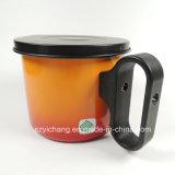 Mini orange du bac 0.8L de pétrole avec le réseau d'assiette