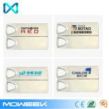 Lecteur flash marqué promotionnel bon marché en bloc de vente chaud de clé de mémoire USB en métal
