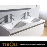 I Governi all'ingrosso di vanità della stanza da bagno di qualità con la pietra artificiale supera Tivo-0005vh