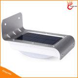 luz solar ligera solar al aire libre solar del jardín de la luz LED del sensor de movimiento de 100lm 16 LED