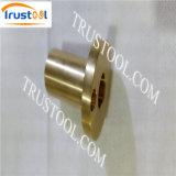 Peças de bronze rosqueadas do CNC do espaçador do suporte isolador